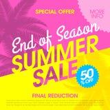 Estremità dell'insegna di vendita di estate di stagione illustrazione vettoriale