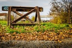 estremità della ferrovia Fotografia Stock