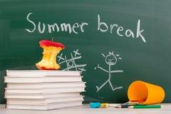 Estremità della scuola. Tempo della rottura di estate Fotografia Stock