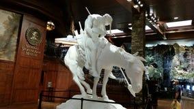 Estremità della statua della traccia Fotografie Stock Libere da Diritti
