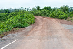 Estremità della strada asfaltata Immagine Stock
