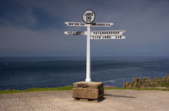 Estremità delle terre, Cornovaglia, Gran Bretagna Fotografia Stock