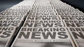 Estremità di funzionamento della stampa del giornale Fotografia Stock