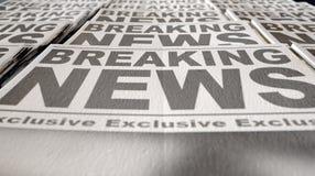 Estremità di funzionamento della stampa del giornale Immagini Stock Libere da Diritti