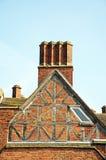 Estremità di timpano del convento di frati francescano, Lichfield fotografie stock libere da diritti