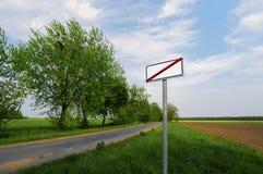 Estremità di un villaggio. Fotografia Stock