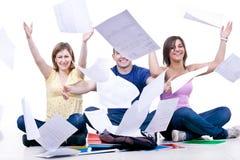 Estremità felice dello studentsâ del banco Fotografie Stock