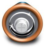 Estremità positiva della batteria Immagini Stock