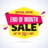 Estremità dell'insegna di vendita di mese Immagine Stock