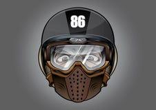 Estremo di sport della bici del motociclo antidetonante del casco del casco grande Immagini Stock