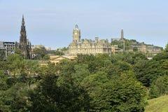Estremo orientale dei principi Street, Edinburgh, Scozia immagini stock