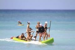 Estremo stia sullo stile del hawaiano del bordo di pagaia Fotografia Stock