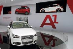 Estreno mundial de Audi A1 - demostración 2010 de motor de Ginebra Imagenes de archivo