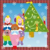 Estribillo de la Navidad stock de ilustración