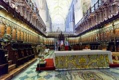 Estribillos de la catedral de Sevilla Foto de archivo libre de regalías