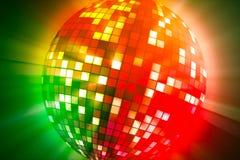 Estroboscópio de giro Uma bola de incandescência colorida imagens de stock