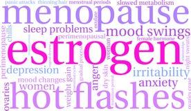 Estrogen Word Cloud. On a white background vector illustration