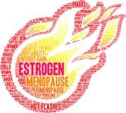 Estrogen Word Cloud. On a white background royalty free illustration