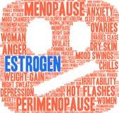 Estrogen Word Cloud. On a white background stock illustration