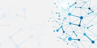 Estructura abstracta de las moléculas de la DNA Fondo de la ciencia y de la tecnología ilustración del vector