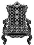 Estructura antigua de la silla foto de archivo