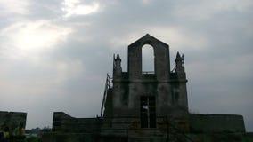 Estructura antigua ruinas Silueta de la arquitectura del décimosexto centure imagen de archivo libre de regalías