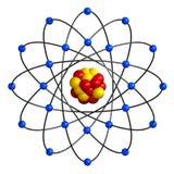 Estructura atómica Imagen de archivo libre de regalías