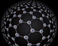 Estructura atómica de Graphene ilustración del vector