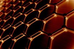 Estructura atómica de Graphene, fondo de la nanotecnología ilustración 3D Imágenes de archivo libres de regalías
