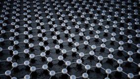 Estructura atómica de Graphene Imágenes de archivo libres de regalías