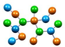 Estructura atómica de la molécula en química Fotografía de archivo