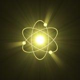 Estructura atómica del átomo del símbolo Imagenes de archivo