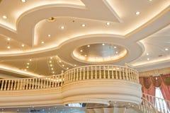 Estructura construida hermosa de un edificio moderno Imagen de archivo libre de regalías