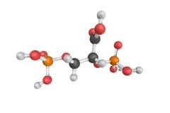 estructura 3d del ácido 2,3-Bisphosphoglyceric (2,3-DPG), un three-c Fotografía de archivo libre de regalías