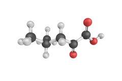 estructura 3d del ácido 4-Methyl-2-oxovaleric, también conocida como alfa imagen de archivo libre de regalías