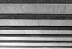 Estructura de acero del haz y del techo del cemento fotografía de archivo