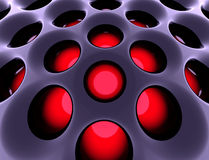 Estructura de alta tecnología abstracta. 3d rindió imagen. Foto de archivo libre de regalías