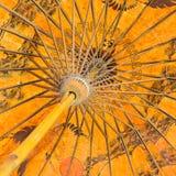 Estructura de bambú del paraguas hecho a mano Fotos de archivo libres de regalías