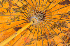 Estructura de bambú del paraguas hecho a mano Imágenes de archivo libres de regalías