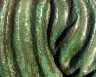 Estructura de bronce pintada verde Foto de archivo