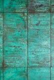 Estructura de cobre resistida, oxidada de la pared Foto de archivo libre de regalías