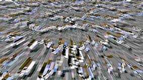Estructura de cristal Fondo del fractal La estrella geom?trica salpica ilustración del vector