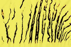 Estructura de Digitaces de la pintura amarillo y negro abstractos del fondo imagen de archivo