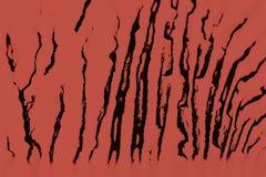 Estructura de Digitaces de la pintura Fondo abstracto en color rojo imagen de archivo libre de regalías