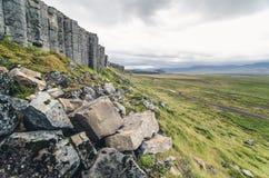 Estructura de la columna del basalto Foto de archivo libre de regalías