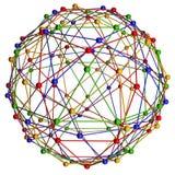 Estructura de la conexión de la molécula ilustración del vector