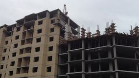Estructura de la construcción de viviendas almacen de metraje de vídeo