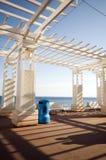 Estructura de la cortina del Gazebo en Niza Francia Fotografía de archivo