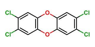 Estructura de la dioxina Imagen de archivo