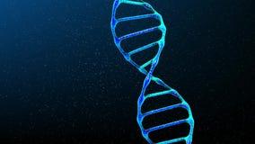 Estructura de la DNA en fondo negro stock de ilustración
